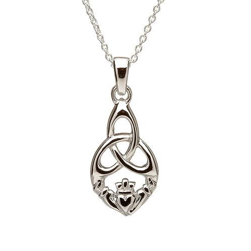 Sterling Silver Trinity Claddagh Pendant