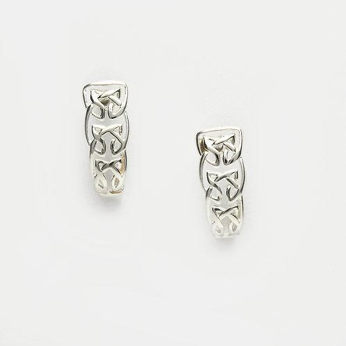 Sterling Silver Celtic Knot Levered Earrings