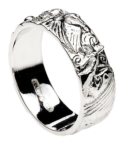 Sterling Silver Children of Lir Heavy Band