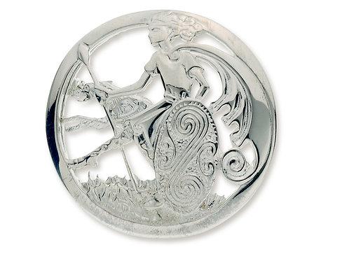 Sterling Silver Cuchulainn Brooch