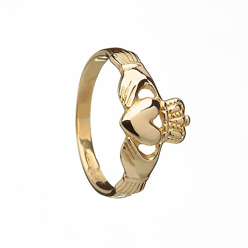 Traditional Ladies Claddagh Ring 10K Gold