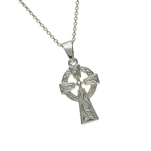 Sterling Silver Double Sided Cross