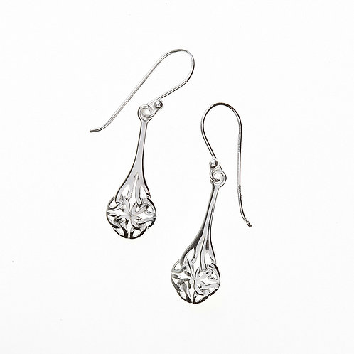 Teardrop Knot Dangle Earrings