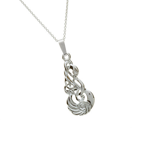Sterling Silver Celtic Knot Swan Pendant