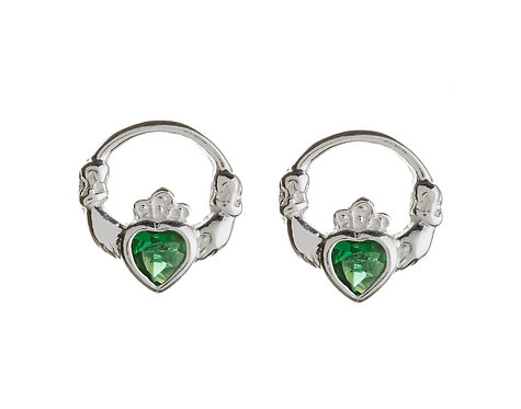 Sterling Silver Claddagh Stud Earring