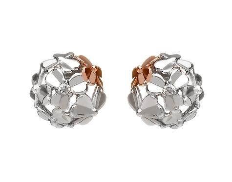 Golden Shamrock Stud Earrings
