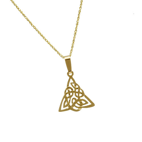 10K Gold Celtic Knot Tangle Pendant