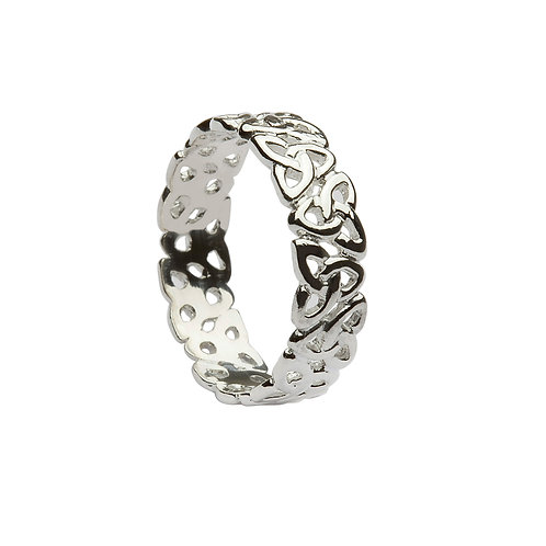 "Ladies Sterling Silver ""Trinity Infinity""  Band"