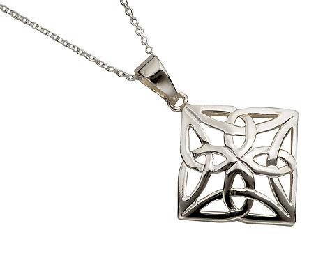 Sterling Diamond Shaped Celtic Knot