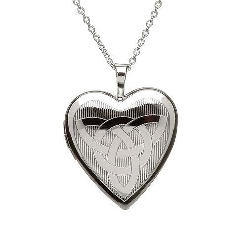 Sterling Silver Celtic Heart Locket
