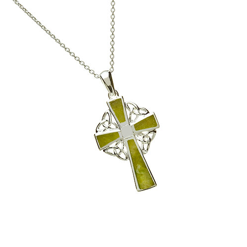 Sterling Silver Marble Cross