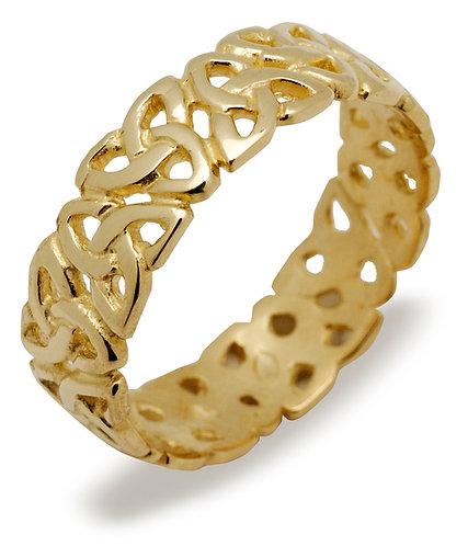"10K Gold Mens ""Trinity Infinity"" Band"
