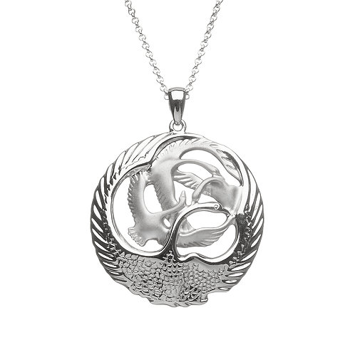 Sterling Silver Heavy Round Pendant