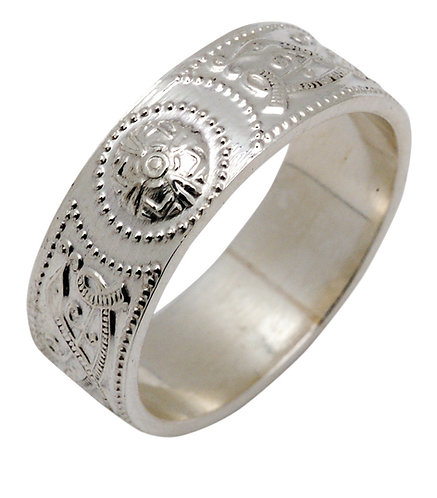 Ardagh Solid Silver Band - Mens