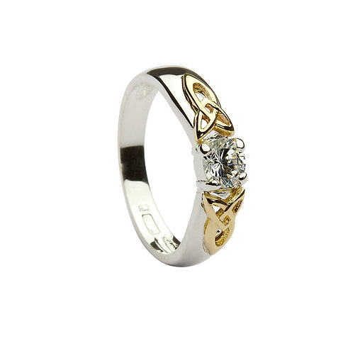 Sterling Silver CZ Trinity Ring
