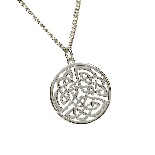 Sterling Silver Celtic Circle Pendant