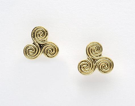 10K Gold Spiral Stud Earrings