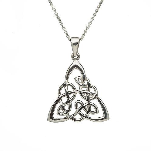 Sterling Trinity Knot Pendant