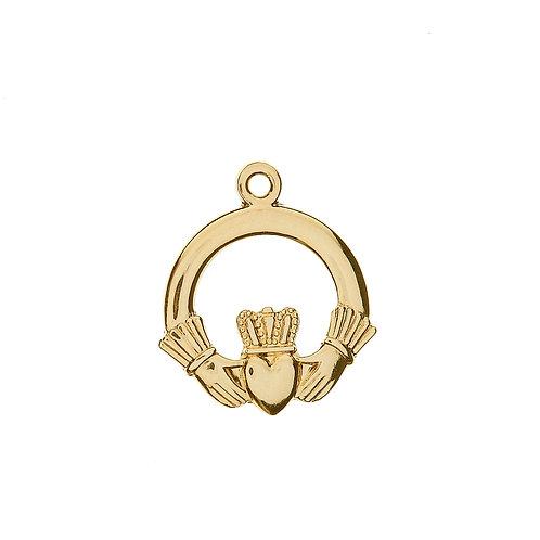 10K Gold Claddagh Charm