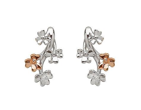 Golden Shamrock Spray Earrings