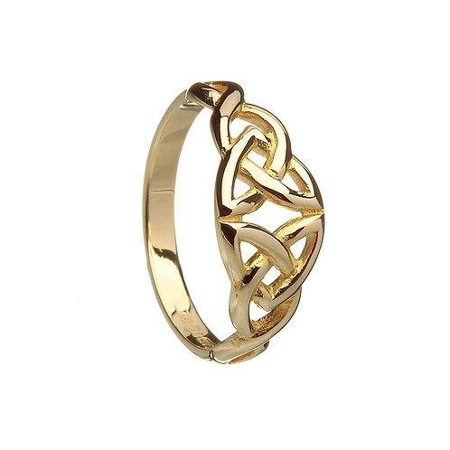 Ladies 14K Gold Celtic Knot ring - Medium