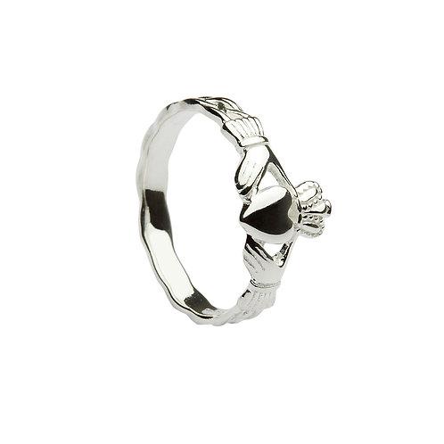 Girls Sterling Silver Claddagh Ring