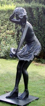 Three quarter size Girl in a Breeze