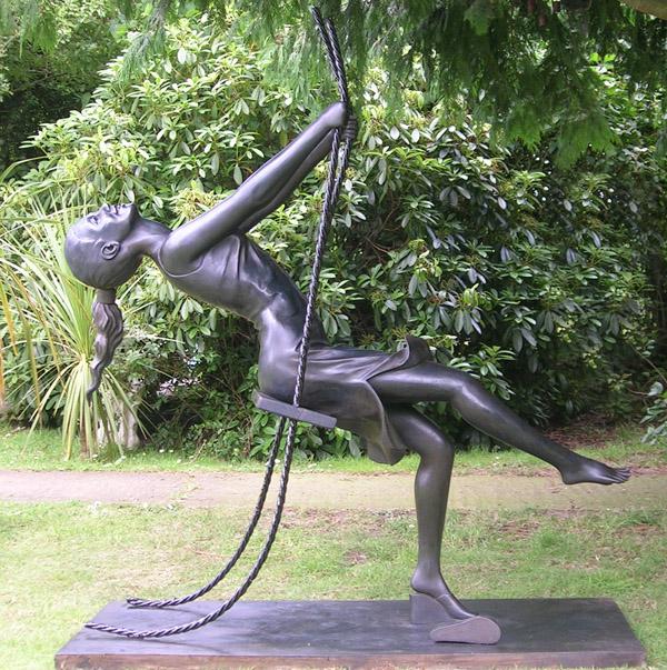 1. Three-quarter size Girl on a Swing