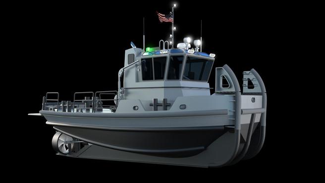 40' Navy Tug - 3D model