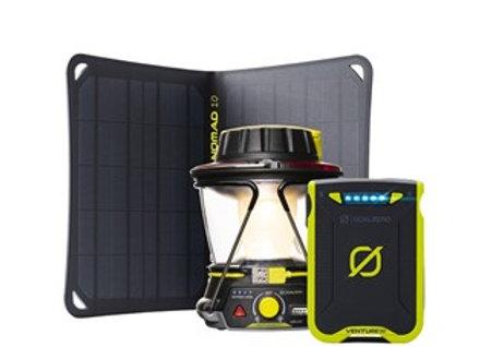 Set Goal Zero Venture 30 & Lighthouse 600 & Nomad 10 Solar Kit