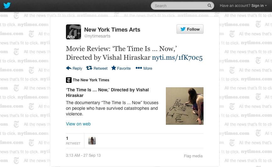 NewYork Times Twitter