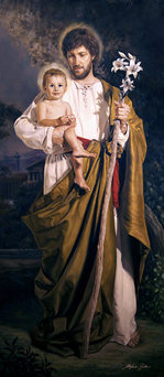 """SAINT JOSEPH WITH THE CHILD"""