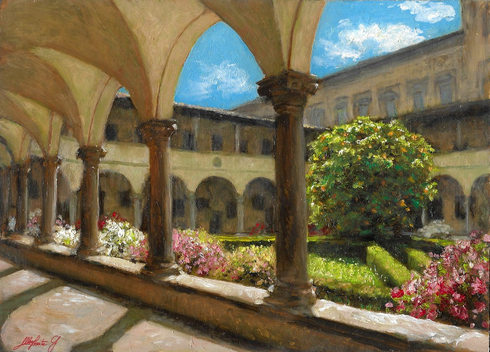 """SKETCH OF THE CLOISTER, BASILICA OF SAN LORENZO IN FLORENCE"""
