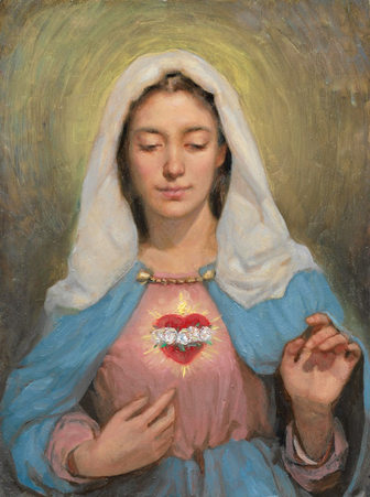 """SKETCH FOR THE IMMACULATE HEART OF MARY"""