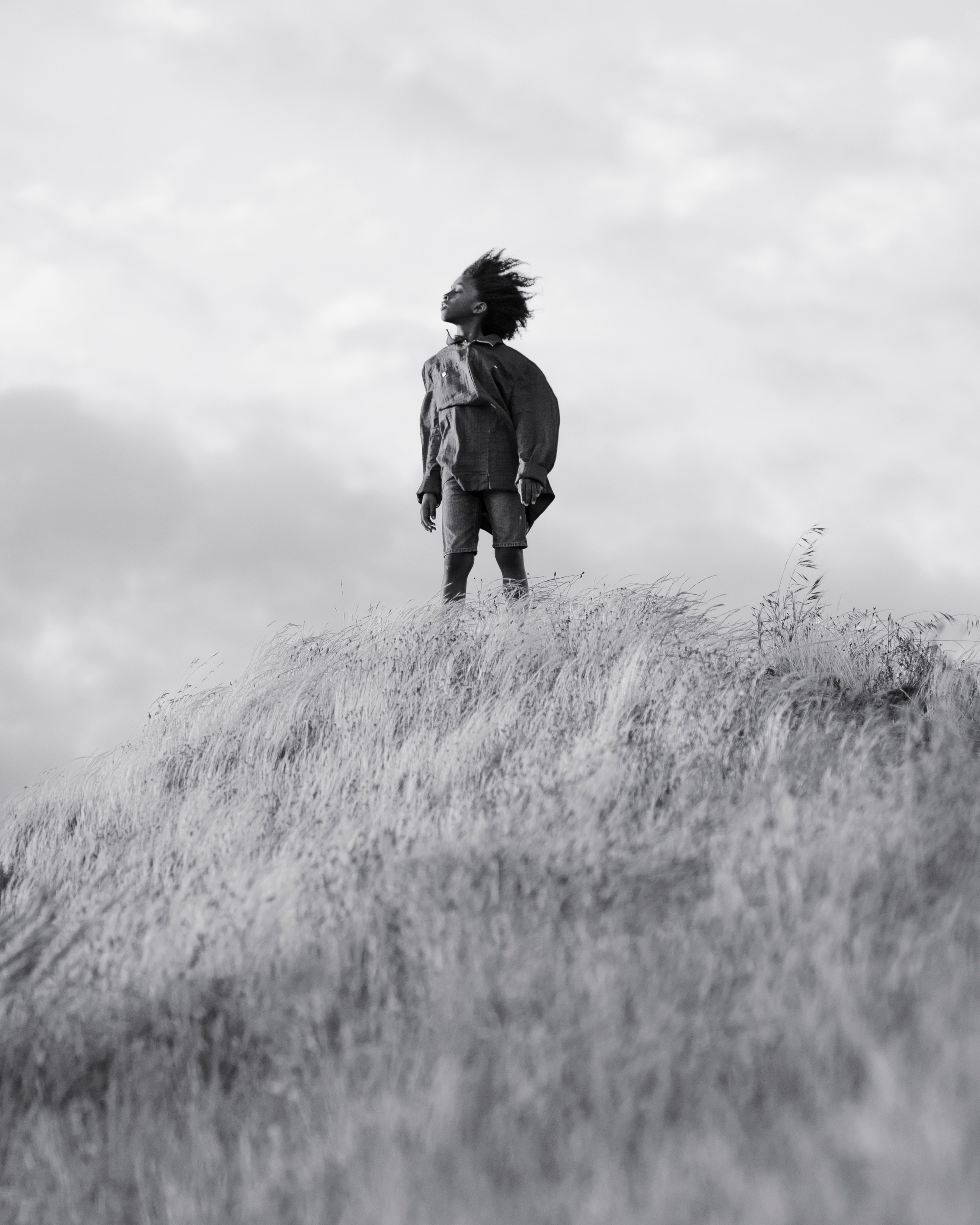 Portrait in the wind at Chambers Bay Washington