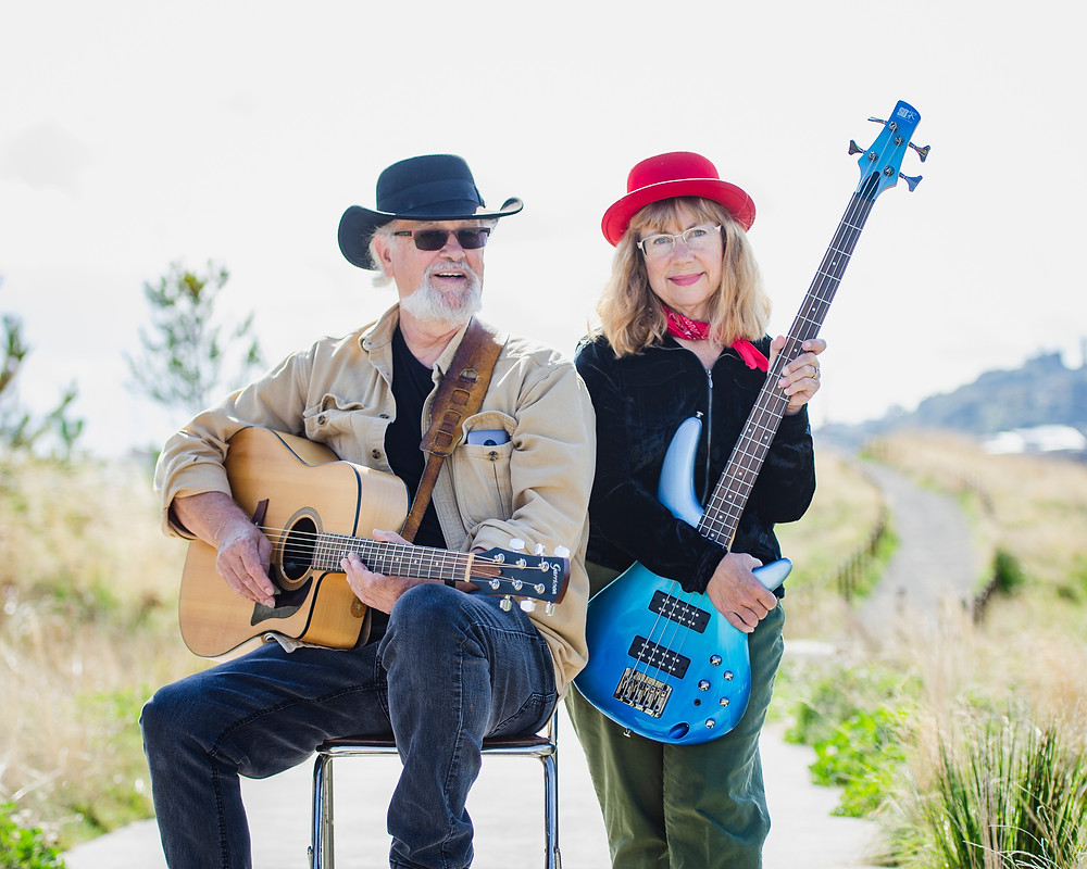 Portrait of music duo Steve and Krisit Nebel by Tacoma music photographer Bret Stein at Dune Peninsula