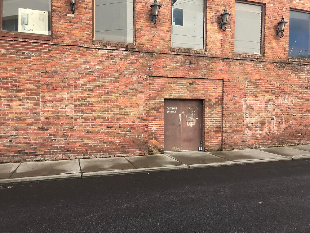 Brick wall shooting location in downtown Tacoma Washington