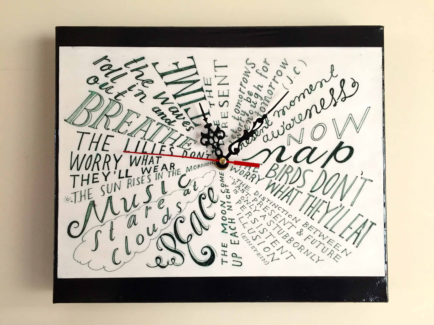 hand lettered typography