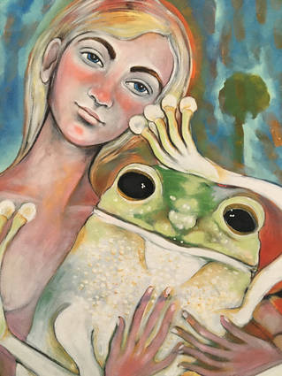 girl with frog (in the desert)