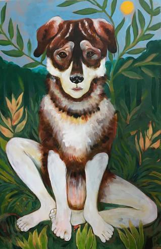dog (with human feet)