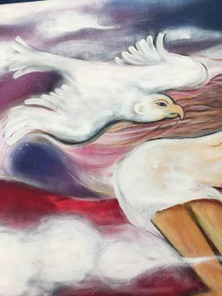 badly drawn bird (detail pink horse)