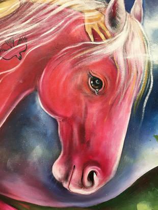 pink horse (detail)