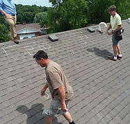 residential roof replacement and inspect