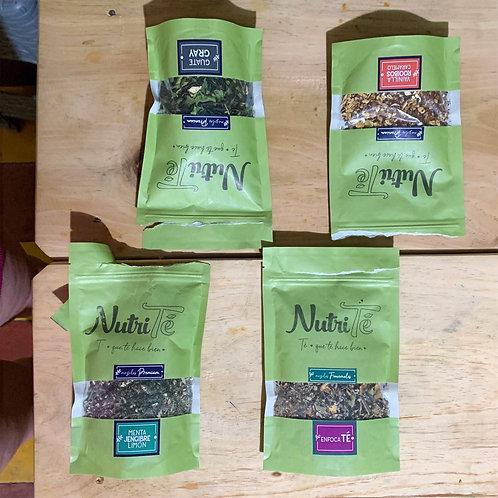 Paquete 4 empaques de té a granel - 280 gramos en total!