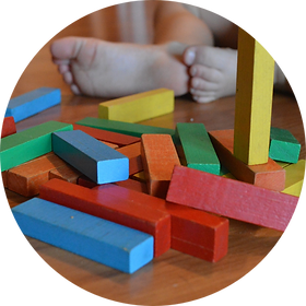 ABA Therapy playing with blocks