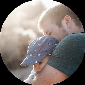 Parent Training cuddling child