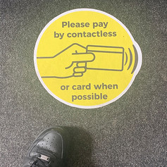 Please Pay Contactless Carpet Floor Graphic