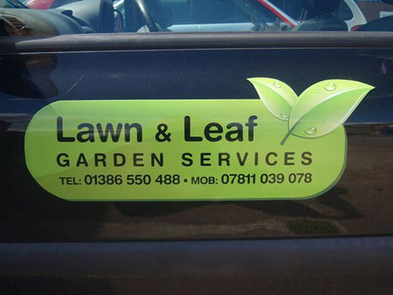 Custom printed lawn and leaf magnetics