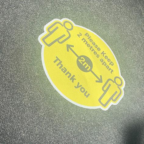 Social Distancing Carpet Floor Graphic.j