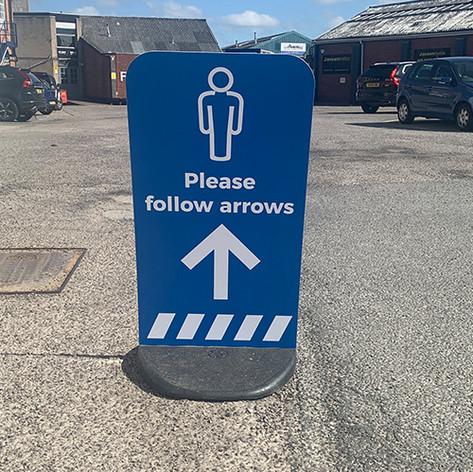 Social Distancing Directional Sign Wedge